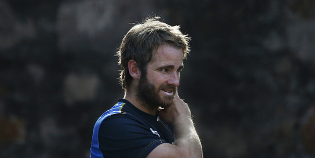 Loading Kane Williamson gestures during a practice session a day ahead of the WorldT20 semifinal against England. Photo / AP