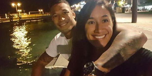 Israel Folau and Maria Tutaia.
