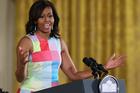 First lady Michelle Obama delivers remarks during an event in the East Room of the White House. Photo / Getty Images
