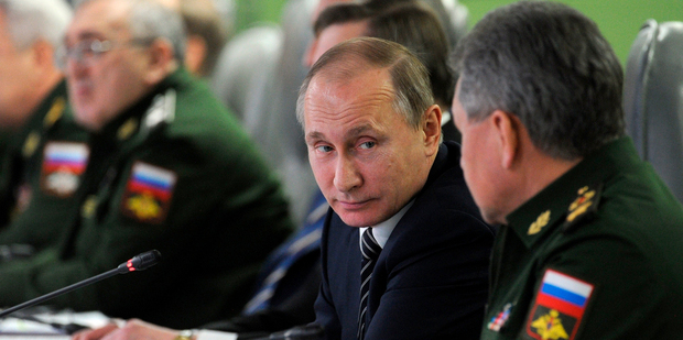 Putin withdrew troops from Syria. Photo / AP