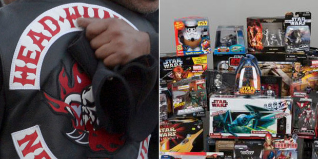 A collection of Star Wars and Marvel figures was found in the Head Hunters-linked raids.