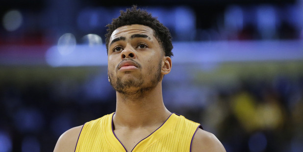 Loading Los Angeles Lakers' D'Angelo Russell. photo / AP