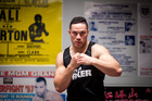 Boxer Joseph Parker training at the Drilltech gym in East Tamaki. Photograph by Dean Purcell.