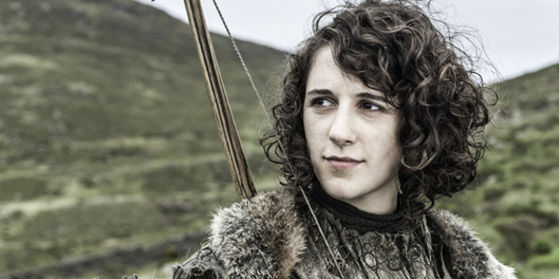 Loading Ellie Kendrick in a scene from the TV show Game of Thrones.