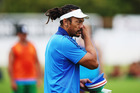 Blues coach Tana Umaga is still searching for his best backline. Photo / Getty Images