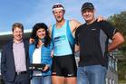 From left to right.: Tom Ruddenklau, Lynn Petrie, Brooke Robertson, Wayne Robertson. Photo / Supplied