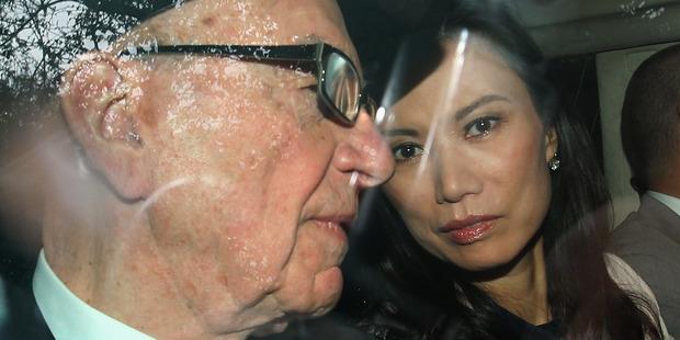 Wendi Deng Murdoch and Rupert Murdoch in 2012. Photo / Getty Images