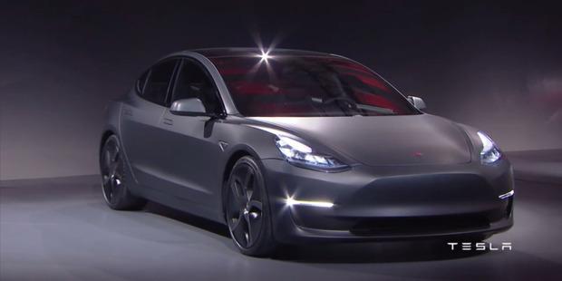 Tesla's Model 3 sedan.