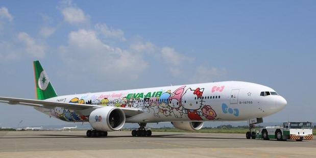 EVA Air's Hello Kitty jet can be tracked around the world. Photo / Facebook, EVA Air