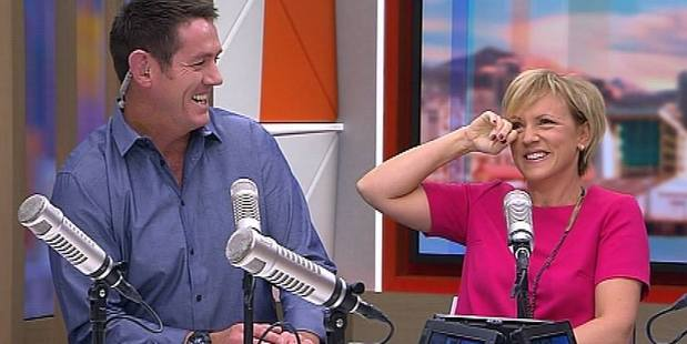 Jim Kayes and Hilary Barry
