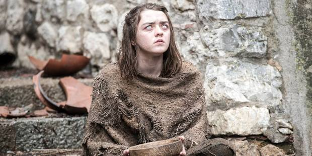 Arya Stark was left blinded at the end of season five of Game of Thrones.