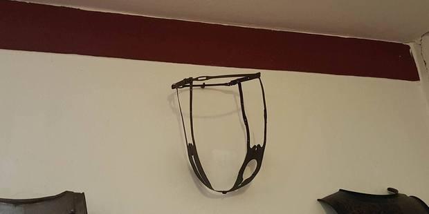 The chastity belt on display at Castle Marksburg. Photo / Winston Aldworth