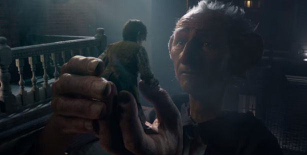 A scene from the upcoming movie, The BFG.