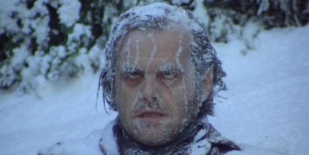 Jack Nicholson stars in the cult classic movie The Shining.