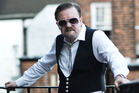 David Brent, played by Ricky Gervais, in a scene from the upcoming movie Life on the Road.