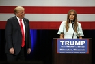 Donald Trump has turned to his wife, Melania, in an apparent bid to win over female voters. Photo / AP
