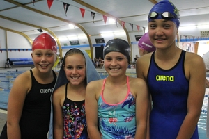 Country team representatives Tayla Mitchell (left), Bella Bedingfield, Hannah Donald and Chanel Harvey.