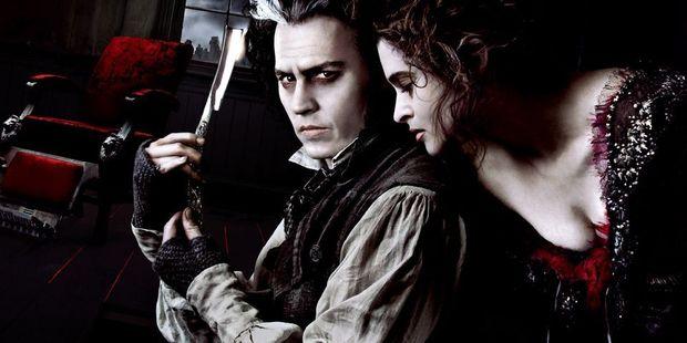 Johnny Depp and Helena Bonham Carter in Tim Burton's 2007 film version of Sweeney Todd.