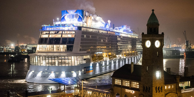The Ovation of the Seas in Hamburg, Germany. Photo / AP