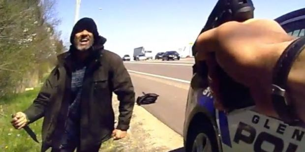 The man threatens to kill the officers and other bystanders as well as himself during the tense standoff. Photo / Supplied