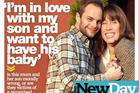 Kim West says she has fallen in love with her biological son Ben Ford. Photo / New Day