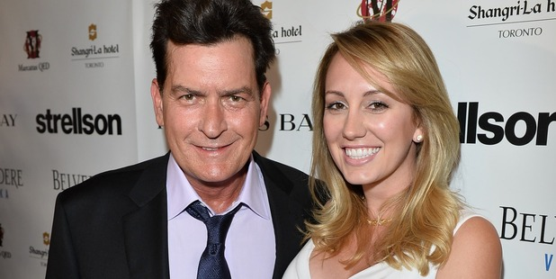 Actor Charlie Sheen and Brett Rossi. Photo / Getty Images
