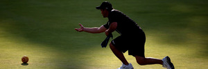 Shannon McIlroy of New Zealand bowls during Commonwealth Games. Photo / Getty Images