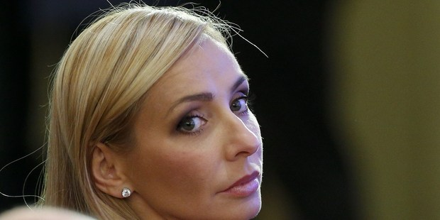 Tatiana Navka, the wife of Putin's aide, is implicated in the leaks. Photo / Getty