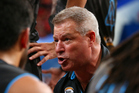 Dean Vickerman, coach of the Breakers addresses his players. Photo / Getty Images