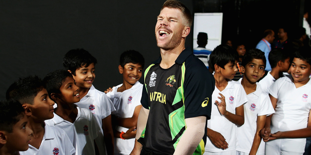 It's a good thing David Warner can play cricket. Photo/Getty.