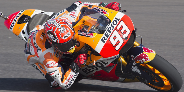 Marc Marquez rounds the bend during the MotoGp of Argentina. Photo / Getty Images