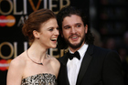 Kit Harington and Rose Leslie have officially stepped out as a couple on the red carpet at the Olivier Awards. Photo / Getty