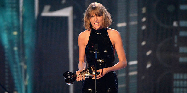 Singer Taylor Swift accepts the Best Tour award onstage at the iHeartRadio Music Awards. Photo / Getty Images