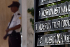 A private security guard stands outside the offices of Mossack Fonseca. Photo / Getty Images