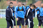 Leicester City training session at Belvoir Drive Training Complex on April 8, 2016. Photo / Getty Images