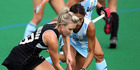 Charlotte Harrison playing against Argentina. Photo / Getty Images