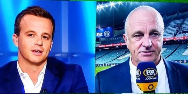 Sydney FC coach Graham Arnold sparked a tense row with Fox Sports during a post-match interview. Photo / Twitter.