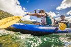 Richie McCaw and Rob Nichol on Lake Rotorua. Photo / Godzone.