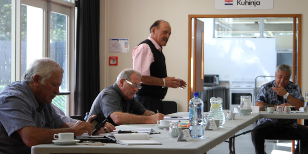 CALM WATERS: Northland Regional Council representative Dover Samuels accepting his election as deputy chairman of Te Oneroa-a-Tohe Board in Kaitaia last week.