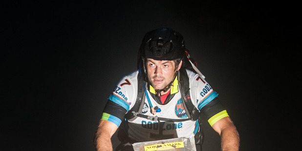 Richie McCaw set off on the 530km endurance event yesterday, which will see him and his Team Cure Kids teammates try to conquer New Zealand's great outdoors. Photo / Supplied