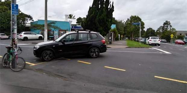 A black SUV snapped in the upmarket Auckland suburb of Grey Lynn. Photo / Supplied