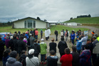 The blessing of the former funeral home site - which has been renamed Kokoreke. Photo / Stephen Parker