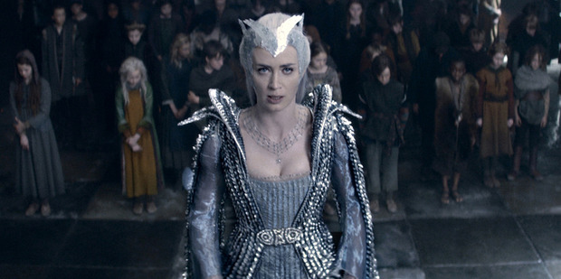 Emily Blunt stars as the evil ice queen Freya in the movie, The Huntsman: Winter's War.