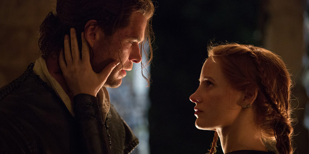 Chris Hemsworth and Jessica Chastain star in The Huntsman: Winter's War.
