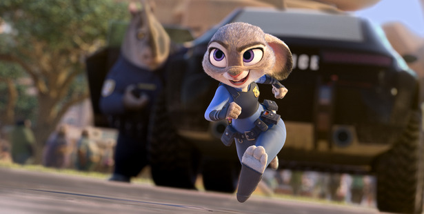 Being the first bunny on a police force of big, tough animals isn't easy, but Hopps is determined to prove herself. Photo / Disney
