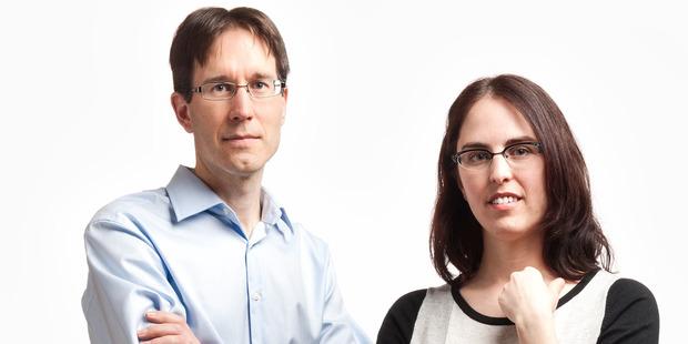 Otago University's Professor Wayne Patrick and Professor Monica Gerth. Photo / Supplied