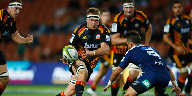 Chiefs, and Bay of Plenty Steamer, Sam Cane makes a break during a round eight Super Rugby match between the Chiefs and the Bulls at Waikato Stadium last year. Photo/file