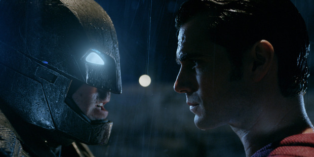 A scene from the movie Batman v Superman: Dawn of Justice.