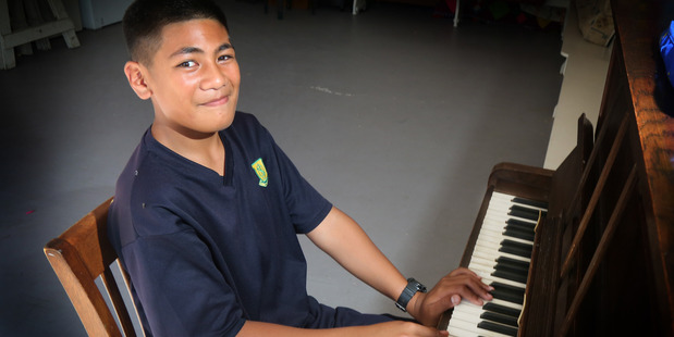 Loading FAME ON FACEBOOK:Young musician AJ Malili-Malo-Lauano has been in the spotlight since his mother posted a video of him online. PHOTO/BEVAN CONLEY