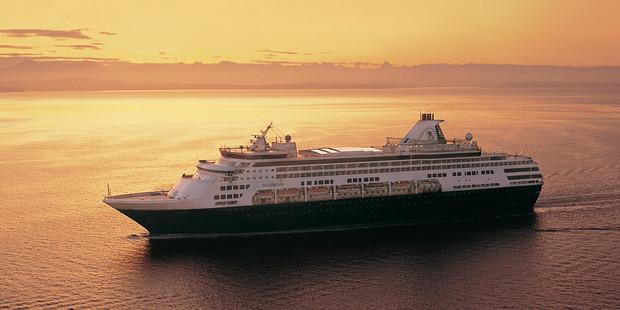 The Holland America cruise ship.